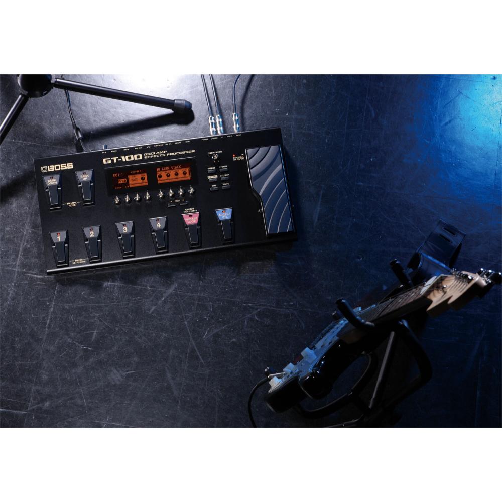 boss multi effects guitar processor gt 100 talentz. Black Bedroom Furniture Sets. Home Design Ideas