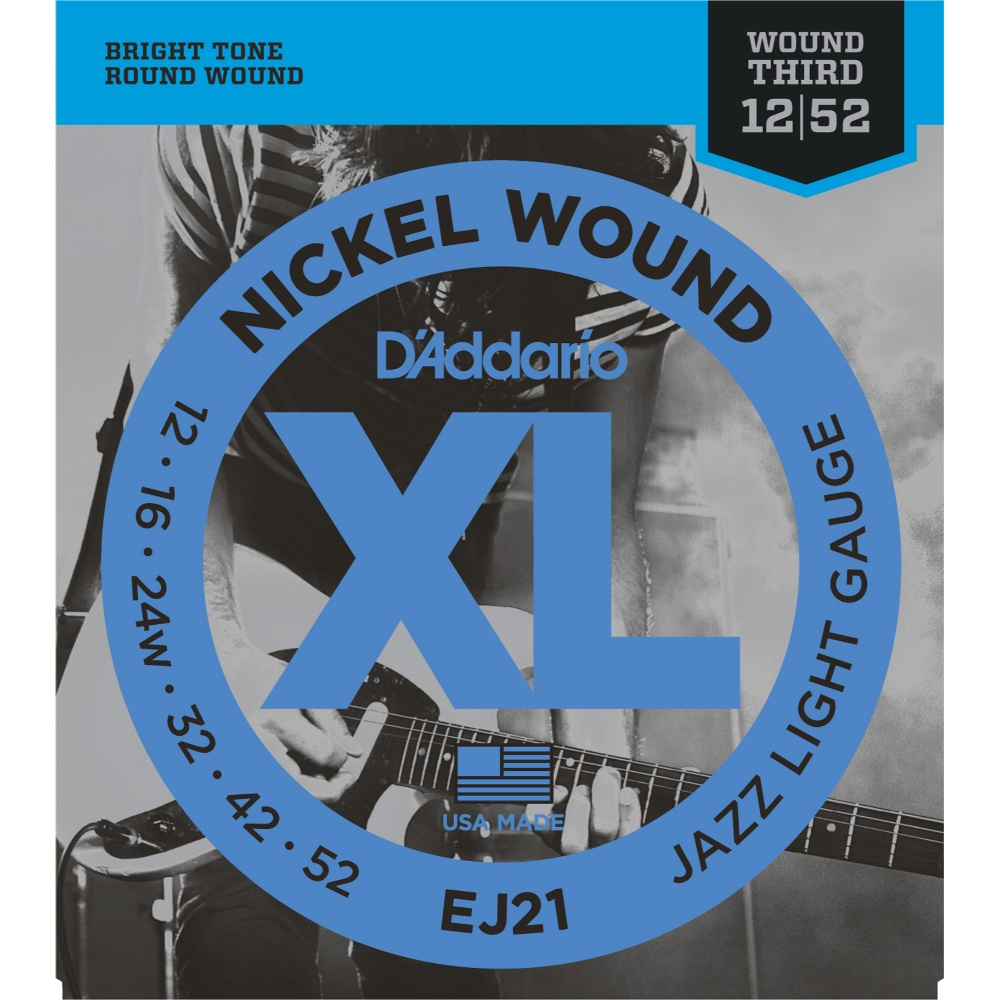 d 39 addario ej21 nickel wound electric guitar strings jazz light 12 52 talentz. Black Bedroom Furniture Sets. Home Design Ideas
