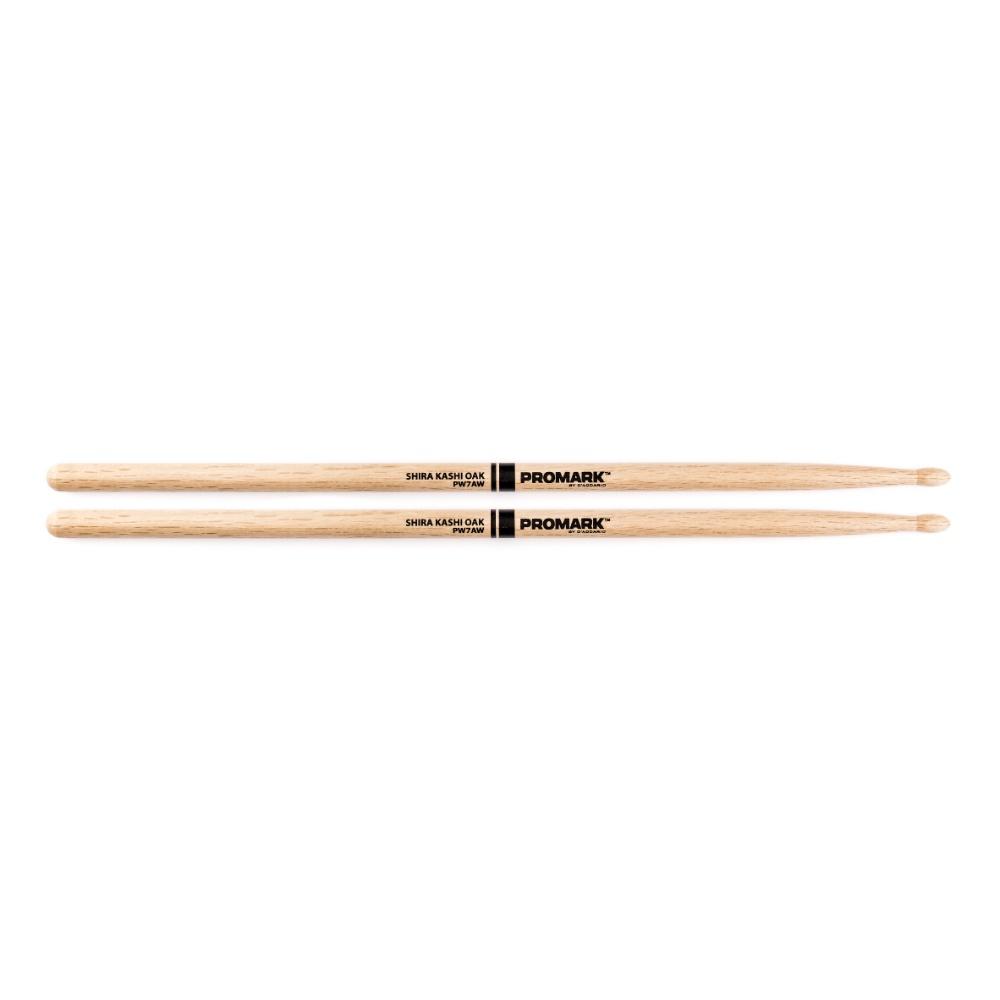 Promark Shira Kashi™ PW7AW Oak 7A Wood Tip Drumsticks